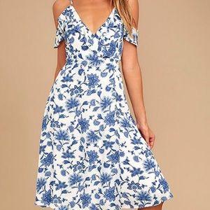 Lulus Arise Floral Off-Shoulder Dress